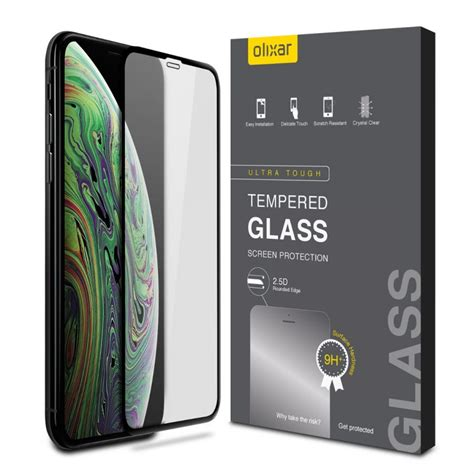 iphone xs max screen protectors olixar