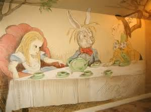 Alice In Wonderland Wall Mural Sire Design Daily How To Design An Organized Amp Stylish