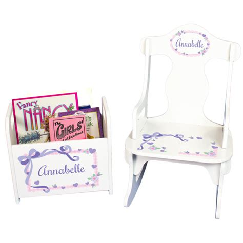 Personalized Baby Chair by Personalized Childs Rocking Chair Book Holder Personalized
