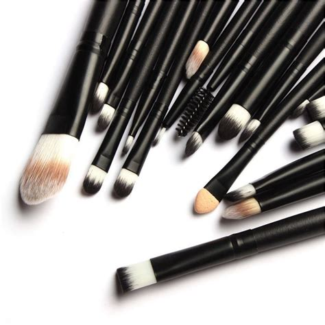Kuas Make Up 24 Set Makeup Brush by Cosmetic Make Up Brush 20 Set Kuas Make Up Black