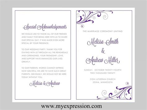 word wedding templates free ms word family wedding program