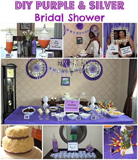 bridal shower decoration ideas purple and silver diy paper fan tutorial frozen backdrop the bajan texan