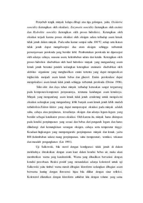 laporan praktikum membuat minyak kelapa laporan praktikum biokimia
