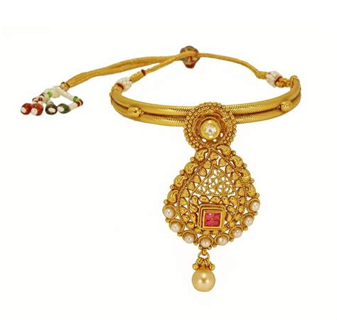 Antique Jewellery Bajuband buy traditional antique design gold plated bajuband with beautiful and white pearl