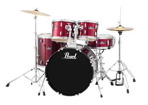 Set Drum Pearl Merah Asik pearl drums rs525sc 5 drum set in wine with