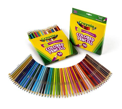 crayola 50 count colored pencils crayola 50 count colored pencils 2 pack dealfaves