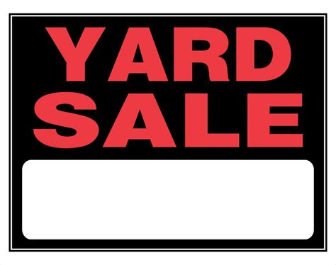 White County Garage Sale by Yard Sale Clip Cliparts Co