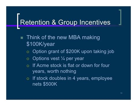 The Risks Of A One Year Mba by Why Firms Use Incentives That No Incentive Effects
