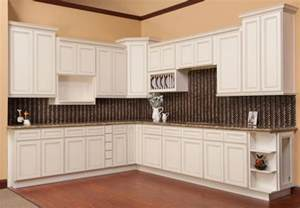 Ready To Assemble Kitchen Cabinets Reviews antique white kitchen cabinets with chocolate glaze 2017