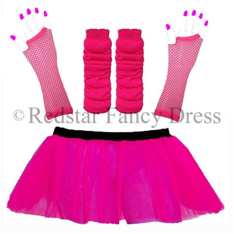 80 S Accessories 1980 S by Neon Tutu Set And Accessories 1980s Skirt Fancy Dress Hen