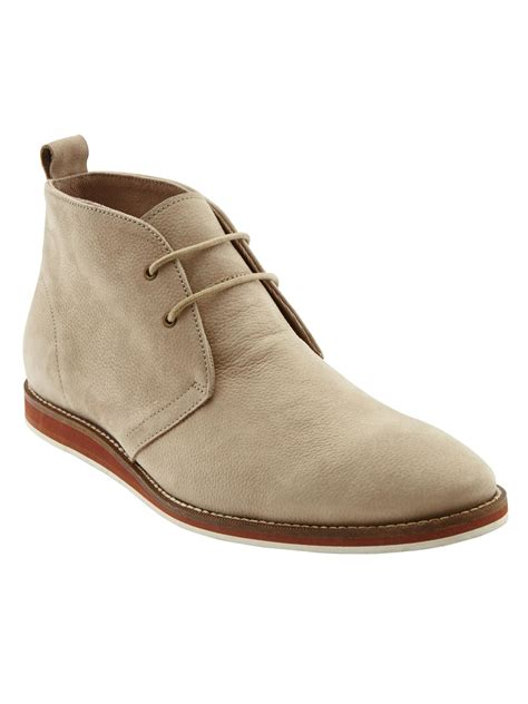 clarks banana boat shoes banana republic graham tumbled chukka in gray for men