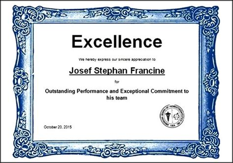 sports award certificate template word sports excellence award certificate template in word