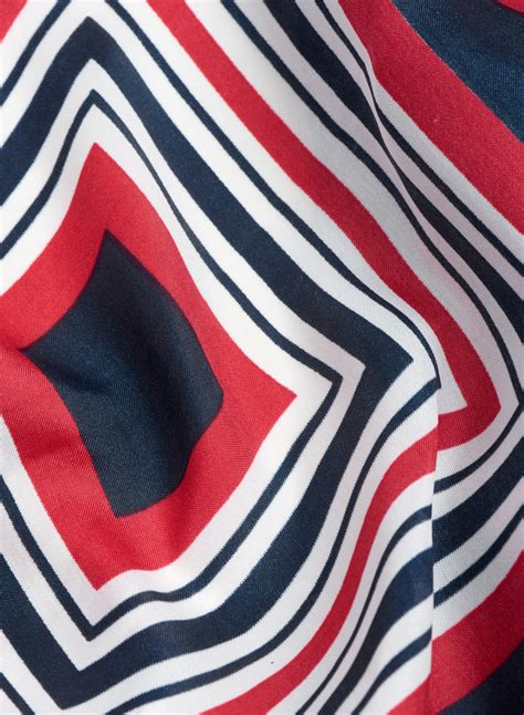 Print Neckerchief stripe print neckerchief