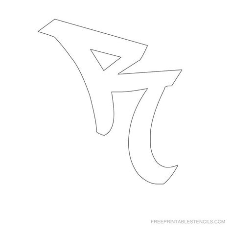 printable letter stencils  printable graffiti