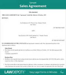 Sales Contract Agreement Template by Sales Agreement Form Free Sales Contract Us Lawdepot
