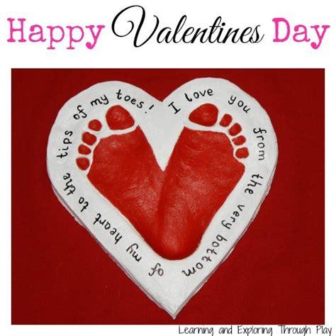 valentines activity salt dough footprint keepsake ted s