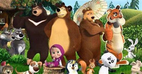 film kartun anak marsha halaman belajar mewarnai kartun anak masha and the bear