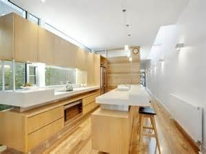 Design Ideas For Small Galley Kitchens - modern galley kitchen design using hardwood kitchen photo 169581
