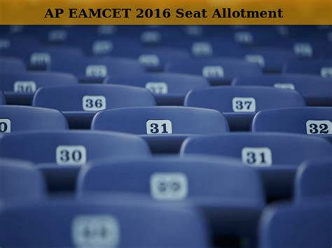 eamcet seats phase of ap eamcet 2016 seat allotment to be