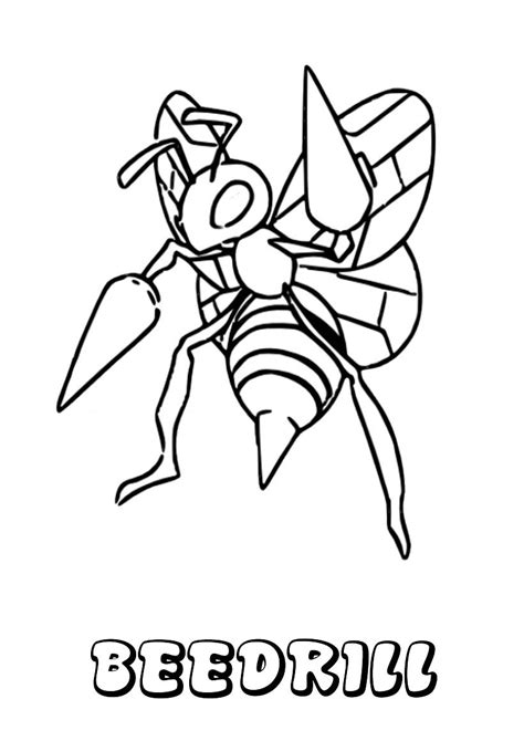 pokemon coloring pages beedrill dibujos para colorear beedrill es hellokids com