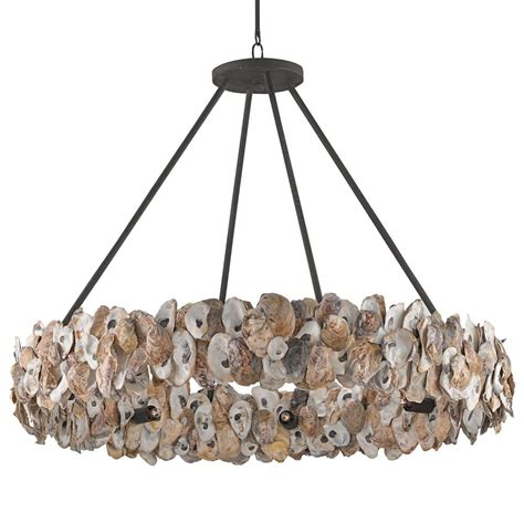 Oyster Chandelier Oyster Shell Coastal Ring Chandelier Kathy Kuo Home