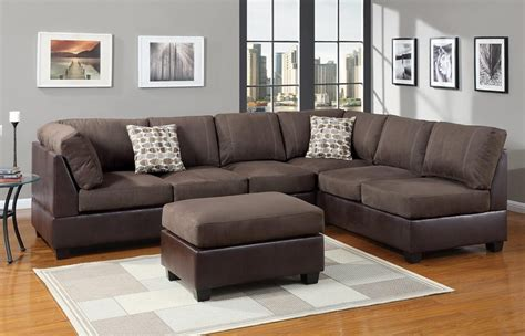 20 Best Collection Of Suede Sectionals Sofa Ideas Leather And Suede Sectional Sofa