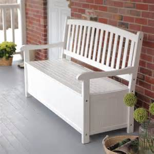 Outdoor Storage Bench Coral Coast Pleasant Bay 5 Ft Curved Back Outdoor Wood Storage Bench White Contemporary