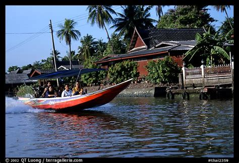 fast boat in thailand picture photo fast boat along khlong on thonbury canals