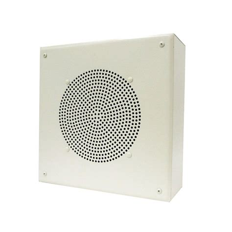valcom 8 in amplified ceiling speaker with square grille