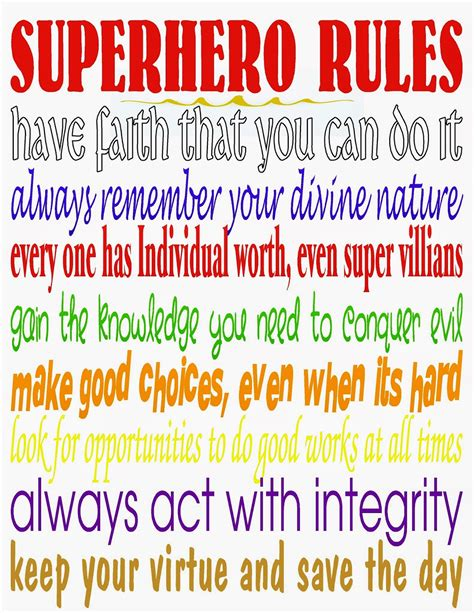 printable superhero quotes superhero rules printable and dare to share linky