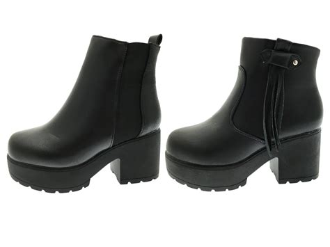 love boat theme midi kids girls mid chunky block heel chelsea low ankle boots