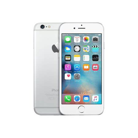 talk apple iphone 6 16gb prepaid smartphone silver walmart