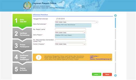 membuat paspor keluarga gaya ransel cara membuat paspor anak secara online