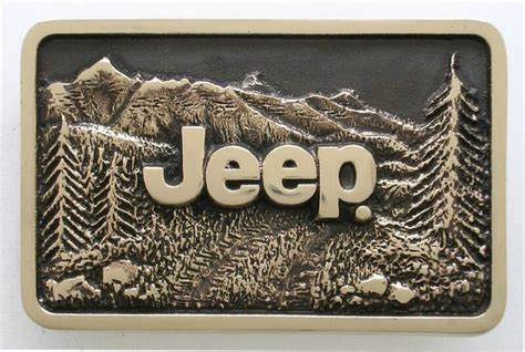 Jeep Belt Buckle Custom Brass Belt Buckles Made By Northwest Brass Works Usa