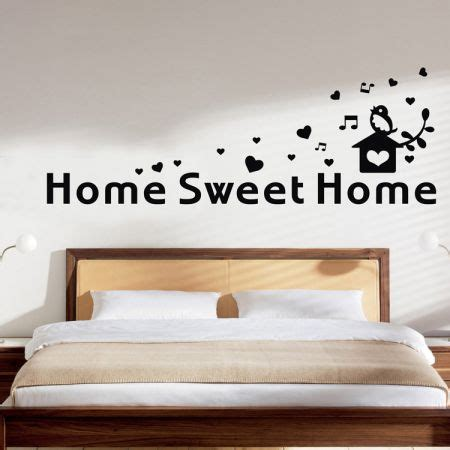 home sweet home wall stickers sweet home pattern wall stickers diy removable wall sticker decor mural decal sales