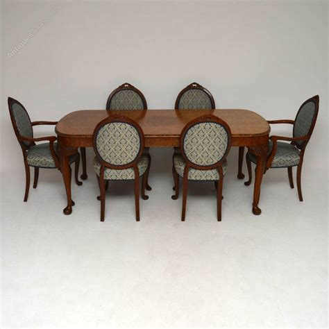 table six chairs antique burr walnut dining table six chairs antiques atlas