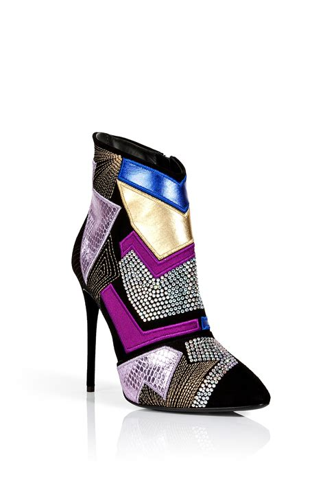 Patchwork Boots - lyst giuseppe zanotti suede patchwork ankle boots with