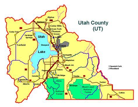 utah county map utah county discover utah counties