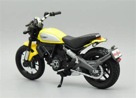 Maisto Motor Ducati Scrambler Yellow Skala 118 yellow 1 18 scale maisto diecast ducati scrambler model