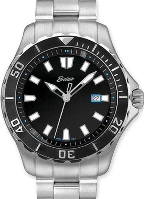 diver steel quartz black a9610w b blk belair
