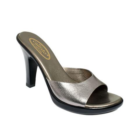 callisto shoes callisto kaylie sandals in silver pewter lyst