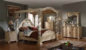 White Canopy Bedroom Furniture Antique White Bedroom Set With Large Canopy Bed On Sale