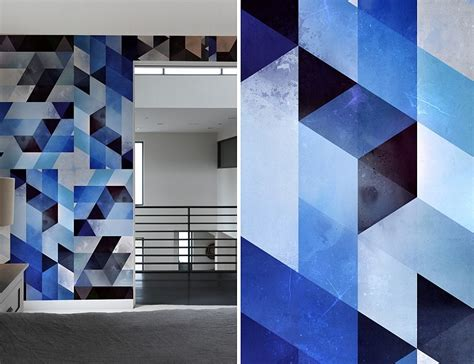 geometric pattern on wall create a captivating accent wall with geometric patterned