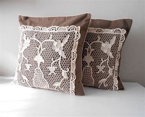 Rustic Throw Pillows by Rustic Pillow Cover Set Decorative Throw Pillow Brown Pillow