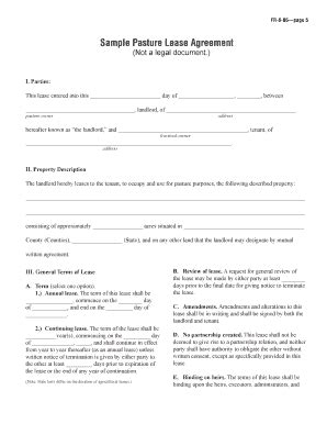 blank lease agreement qld pasture lease agreement fill online printable fillable
