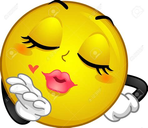 emoji kiss 39604979 mascot illustration of a smiley blowing a kiss
