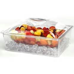 Cold Buffet Server by Tropix 3 Acrylic Chiller Container No Size Toolfanatic