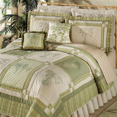 sage green coverlet tropical floral palm bedding quilt setjpg bed mattress sale