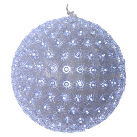 freddo interno luce natalizia sfera 25 cm led bianco freddo interno ed