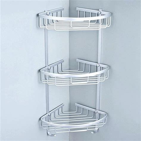stainless steel shower caddy corner stainless steel corner shower caddy in aluminum and suction innovativecreative